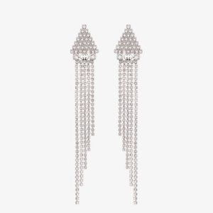 Authentic Gucci crystal drop earrings
